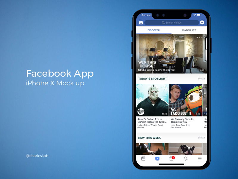 Facebook App Mockup On Iphone X Facebook App Iphone Mobile Mockup