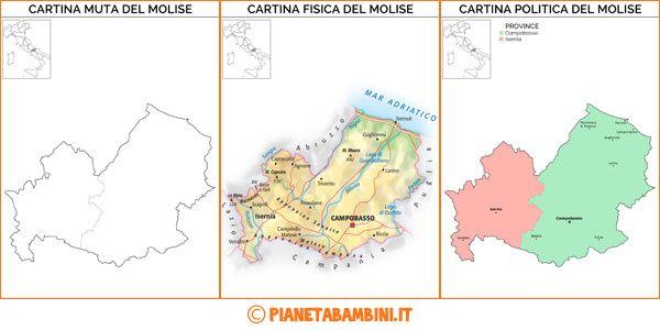 Cartina Muta Fisica E Politica Del Molise Da Stampare Didattica