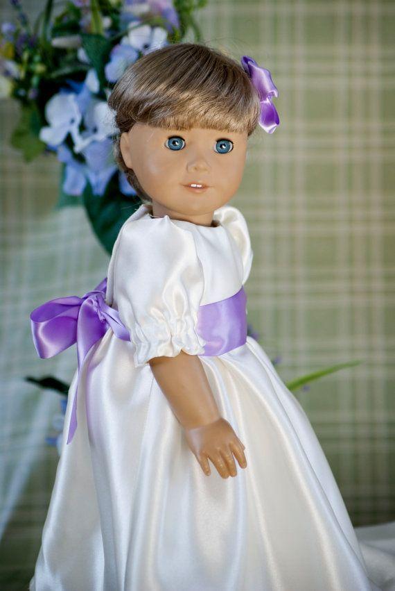 American Girl 18'' Doll Clothes Fancy Cream and door MyDressedUpDoll, $18.00