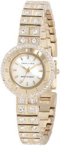 Anne Klein Women's AK/1034CMGB Swarovski Crystal Accented Watch Anne Klein, http://www.amazon.com/dp/B008XT3PHA/ref=cm_sw_r_pi_dp_zaGerb0T2EJSQ