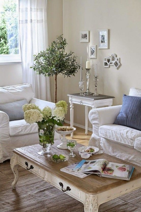 17 Shabby-Chic Living Room Ideas to Steal - Chic Furniture Rustic ...