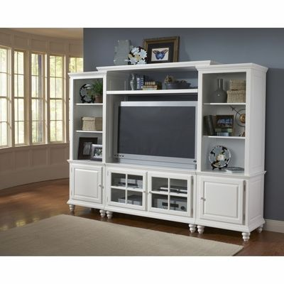 Grand Bay Small Entertainment Wall Unit In White Hilale
