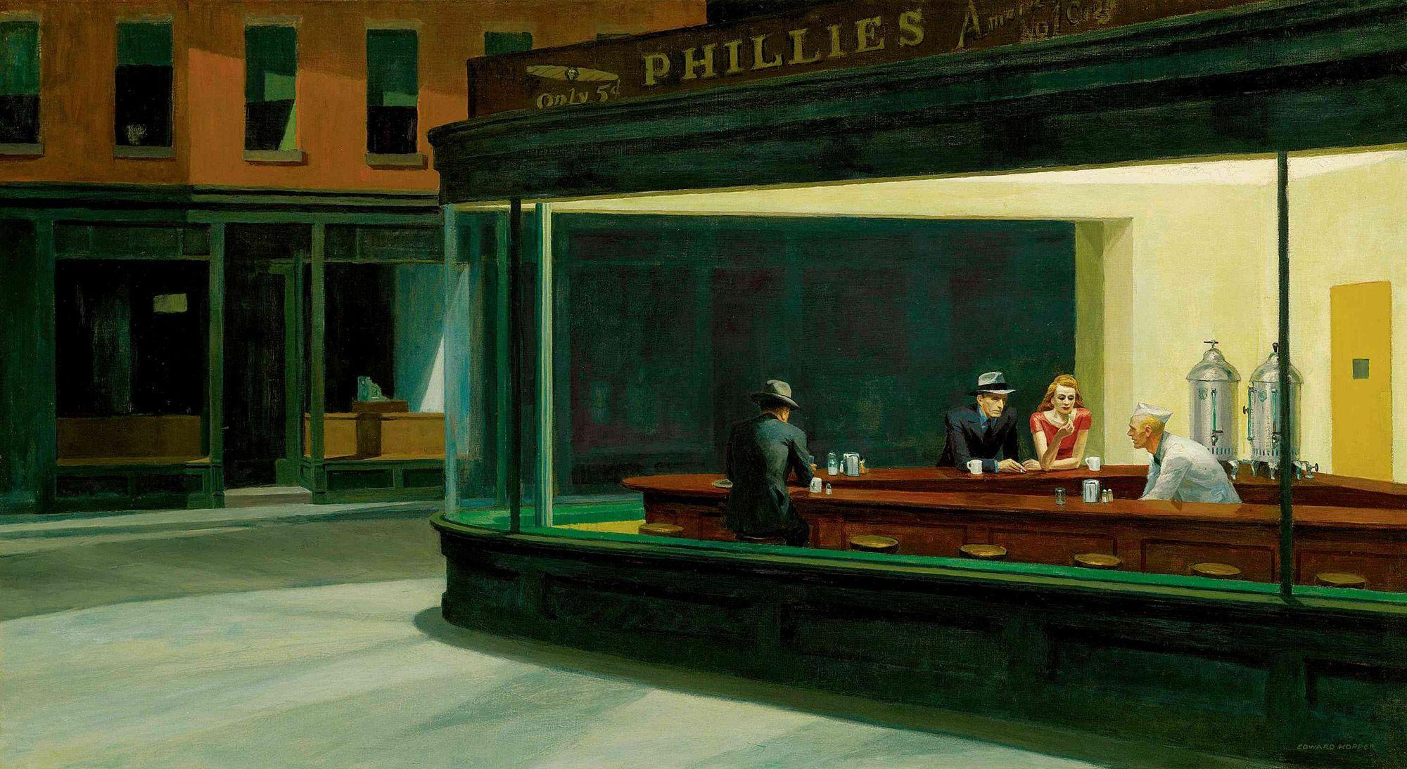 23 parodies de Nighthawks d'Edward Hopper - La boite verte