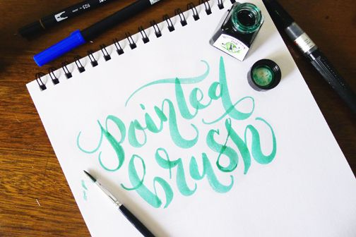 A good little round up for brush lettering by fozzy book type