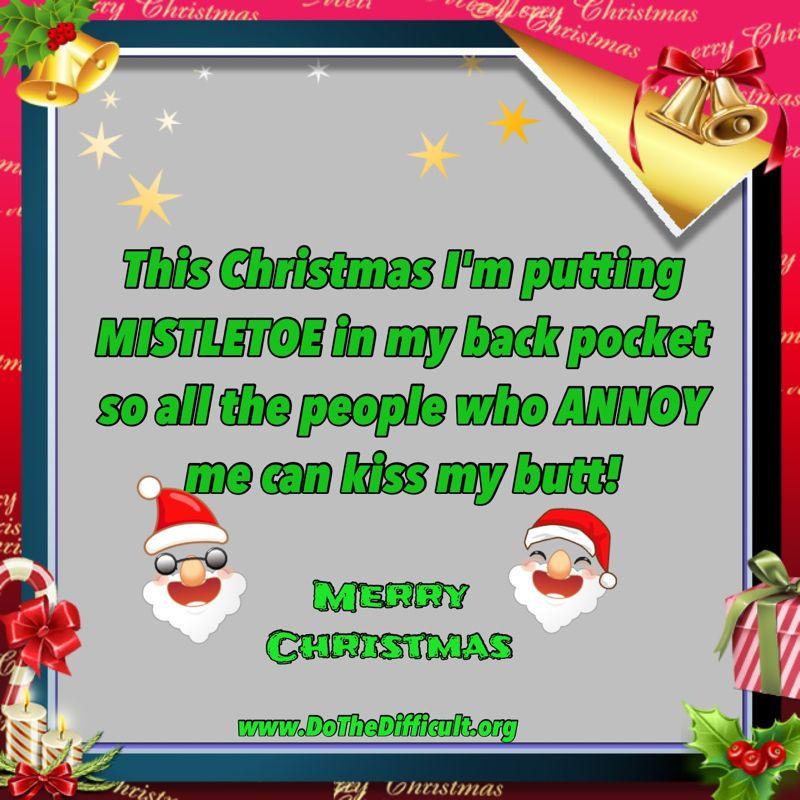 Funny Christmas Mistletoe Quote