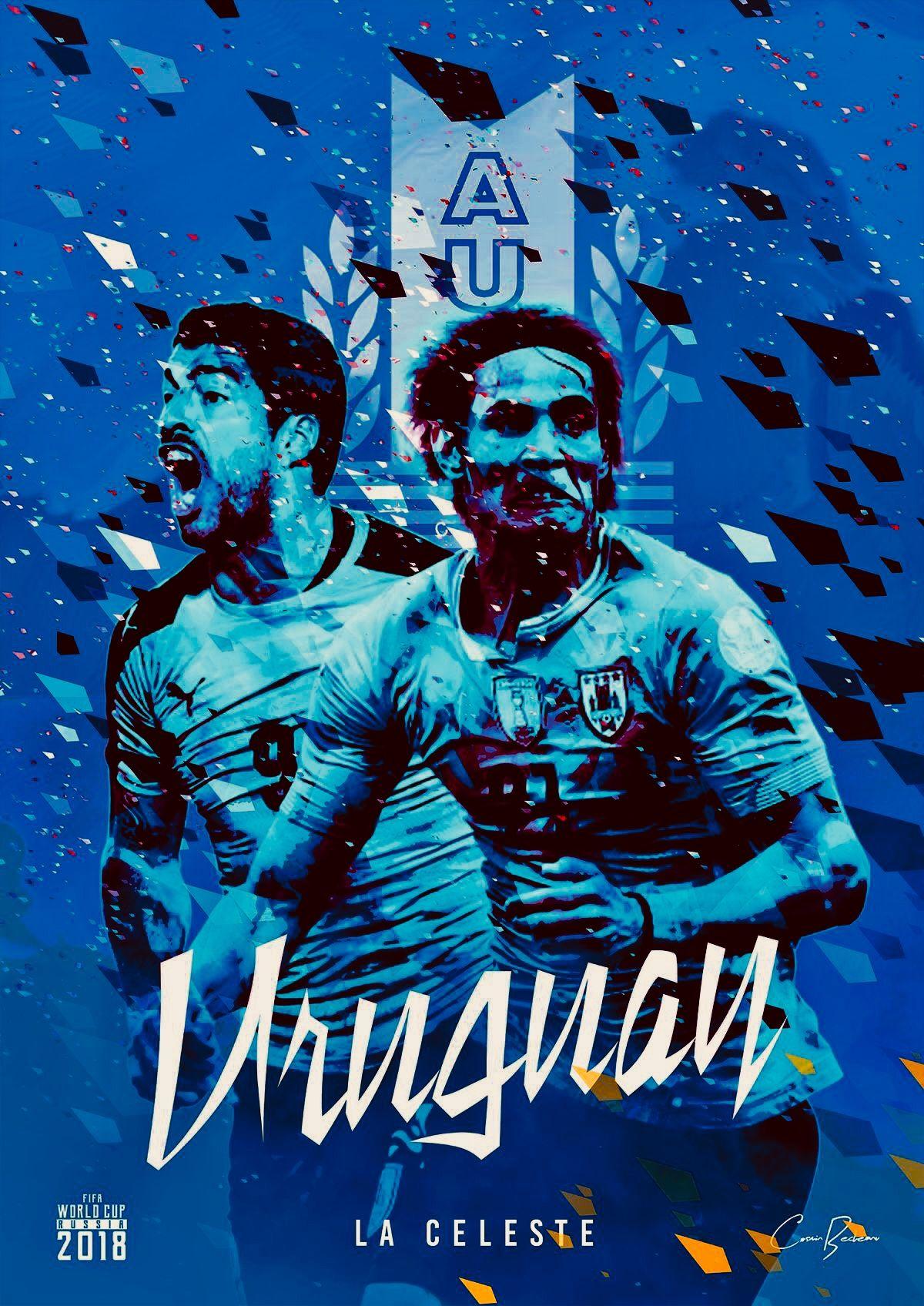 Uruguay La Celeste The Sky Blue Copa Do Mundo Lendas Do