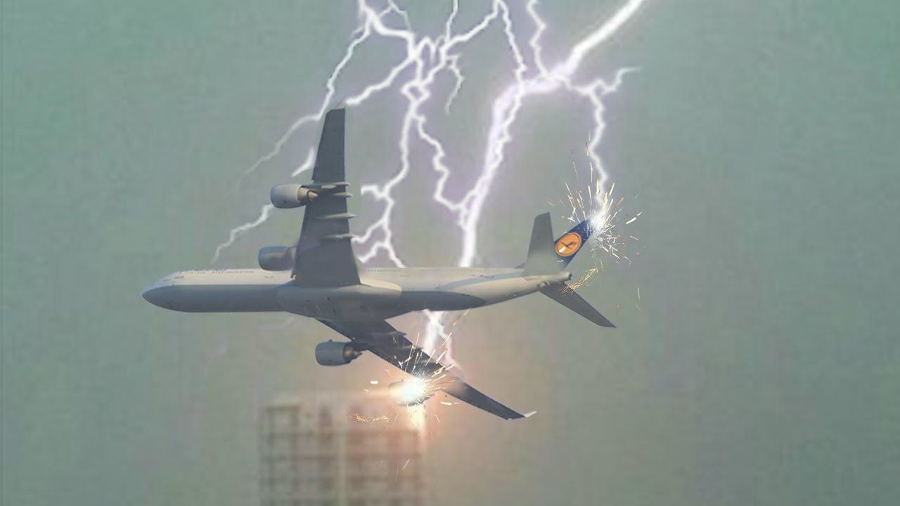 Aviões atingido por raios e relâmpagos ◇ Tempestades vs BOEING ...
