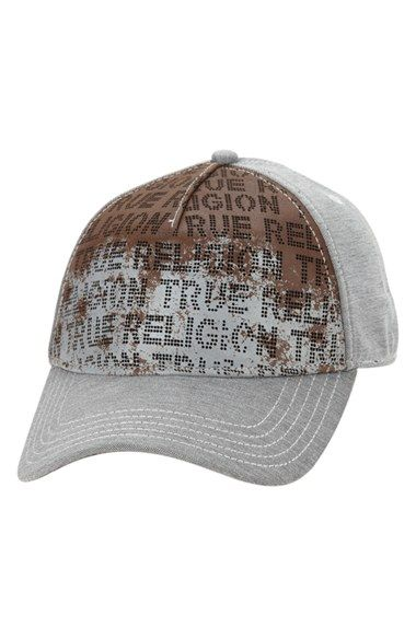 c53c3469ad5 True Religion Brand Jeans Perforated Leather Front Baseball Cap ...