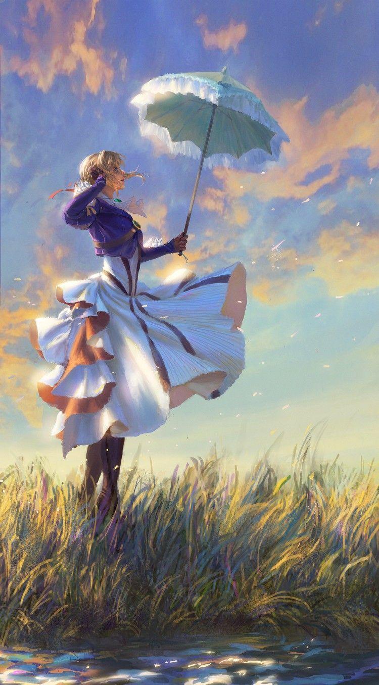 Imagem de Violet Evergarden por Mori Mori Anime, Menina