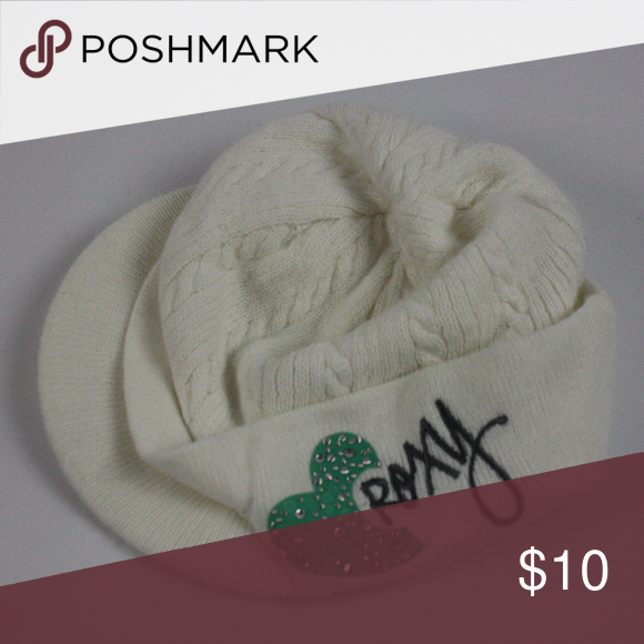aa5a6f7e3c1 ROXY winter hat beanie with a bill winter used hat. Clean smoke free home  Please
