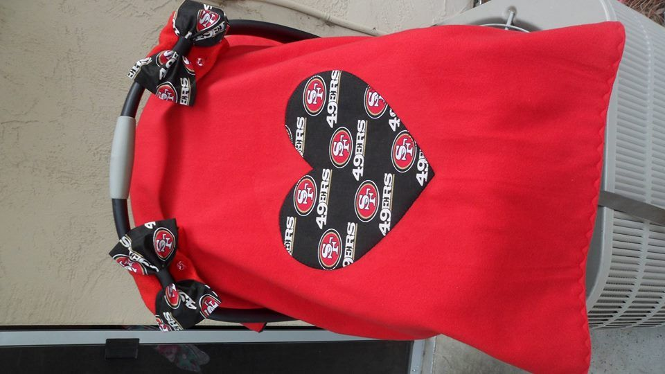 UNIQUE CARSEAT CANOPY COVER 49ERS