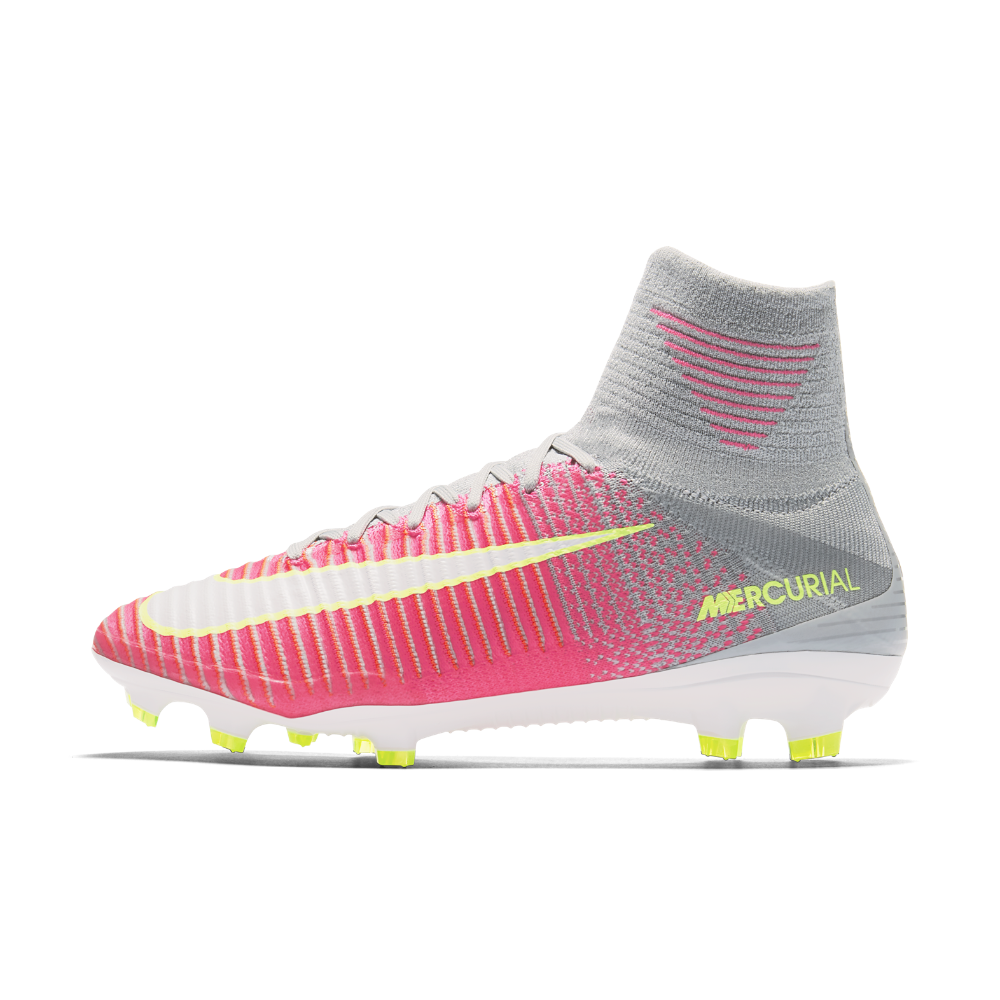 Nike Mercurial Superfly V Women s Firm-Ground Soccer Cleats Size 10.5 (Pink) f21f26b62