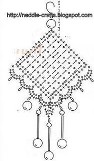 Crochet earring diagram crocheted accessories pinterest crochet earring diagram ccuart Gallery