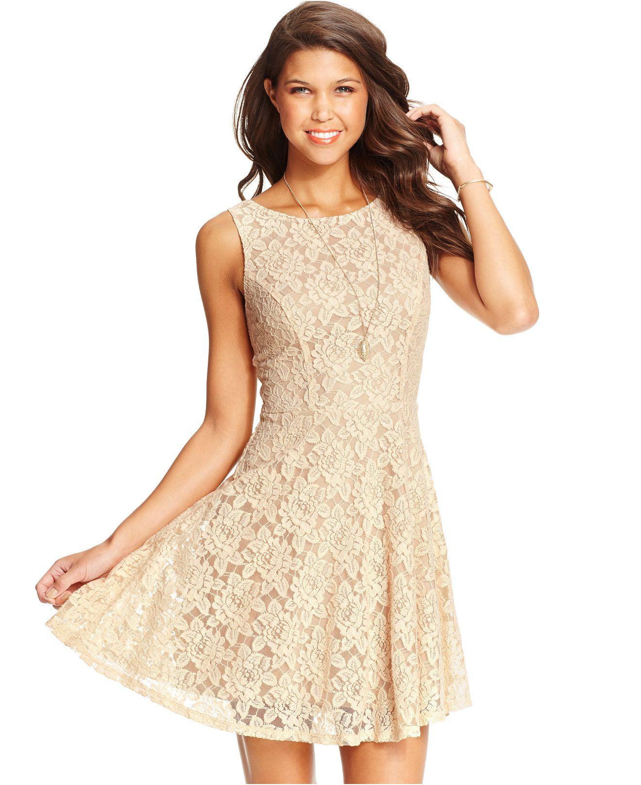 c11fefa727 Speechless Juniors  Lace Exposed Zipper Dress - Juniors Dresses - Macy s