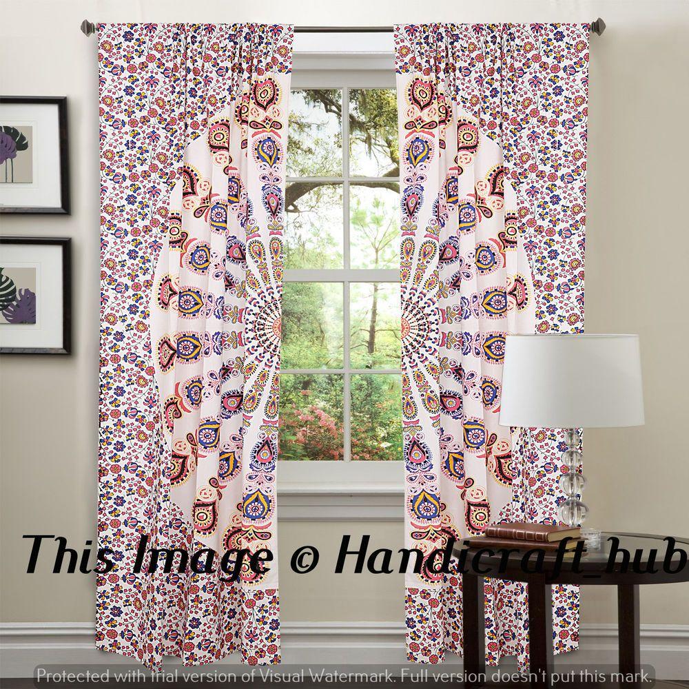 Boho window curtains - Details About Mandala Bedroom Window Curtains Indian Drape Balcony Room Decor Curtain Boho Set