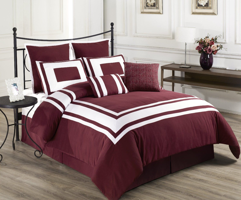 Best Burgundy Bedding Burgundy Bedding Red Comforter Sets 400 x 300
