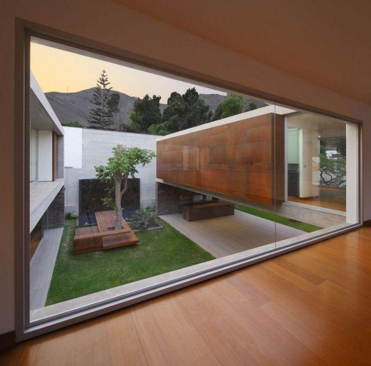 innenhöfe und -gärten sind von moderner architektur hoch beliebt, Gartenarbeit ideen