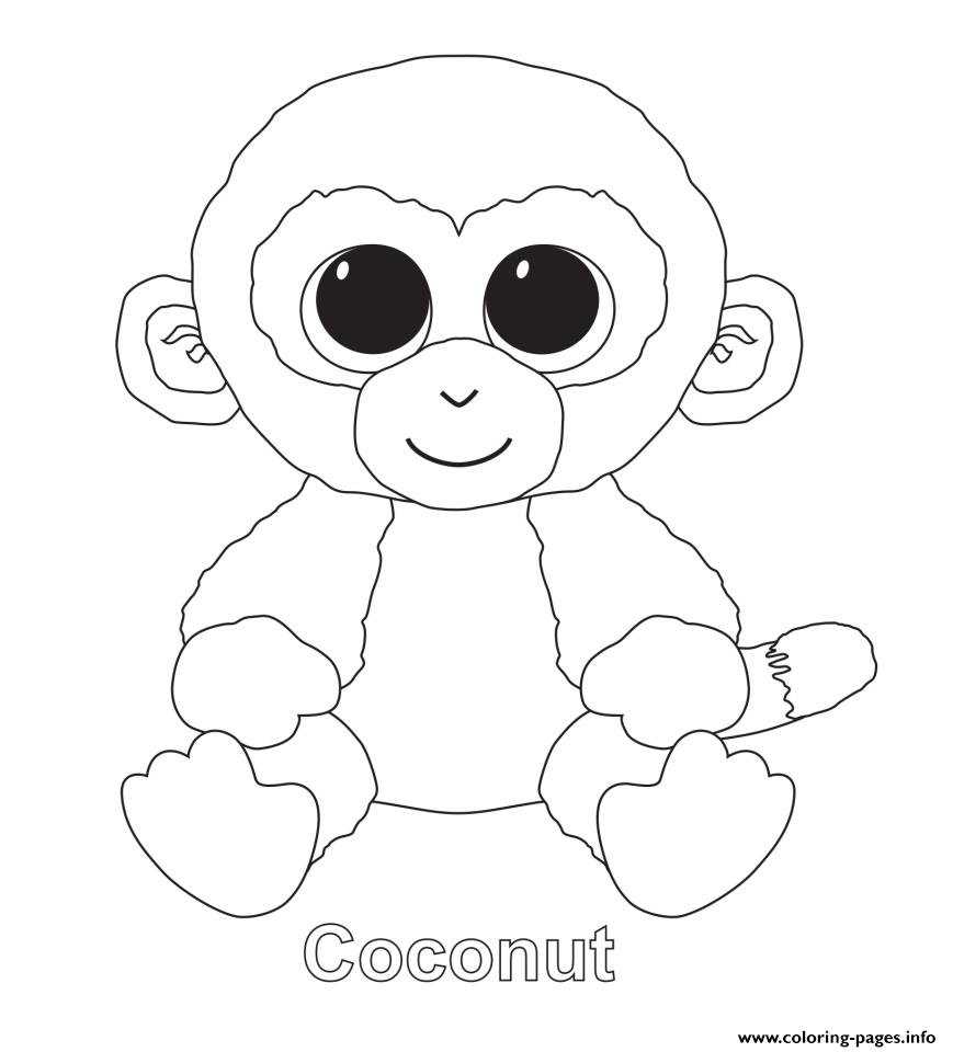 print coconut beanie boo coloring pages jess pinterest