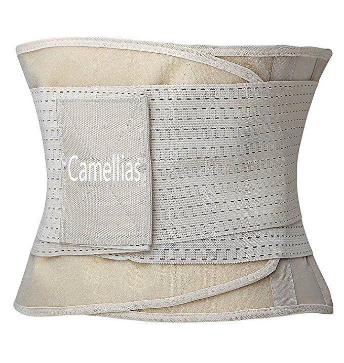5870d438c Camellias Women Waist Trainer Belt Body Shaper Belly Wrap - Trimmer Slimmer Compression  Band for Weight Loss Workout Fitness at Amazon Women s Clothing ...
