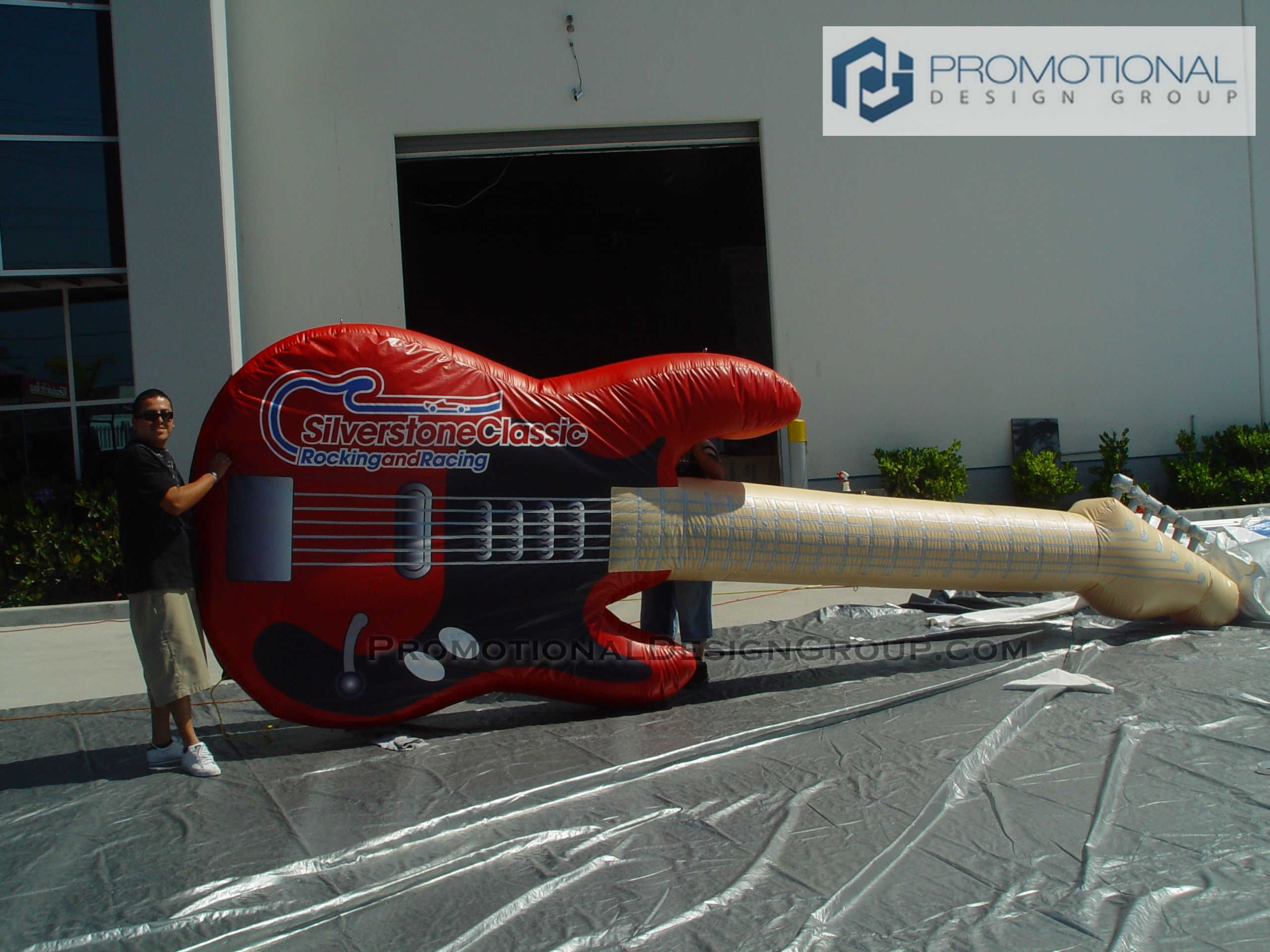 Giant inflatable guitar for silverstoneclassic custom
