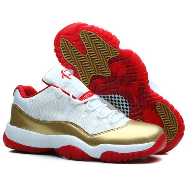a06dd702dff6d1 ... best price for sale air jordan 11 retro low two rings white metal gold  varsity liked ...
