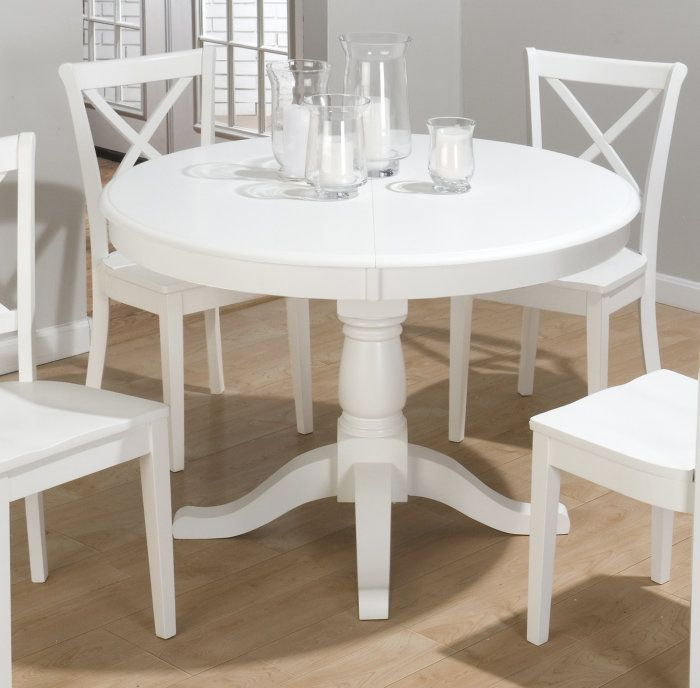 Jofran Casper White 48X48 Dining Table W Butterfly Leaf  For The Mesmerizing Small Dining Room Tables With Leaves 2018
