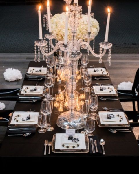 images of black and white tabletop settings | ... White Wedding ...