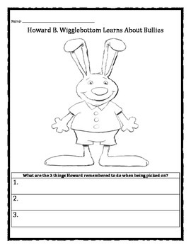 Howard B Wigglebottom Learns About Bullies Worksheet With Images