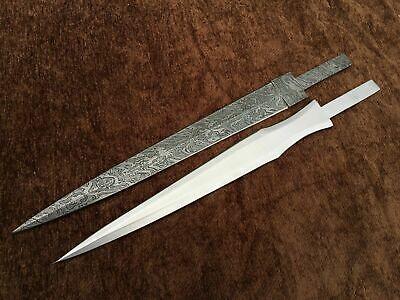 Custom Handmade Full Tang D2 Damascus Steel Sword Blade Ebay Damascus Steel Sword Knife Making Damascus Steel