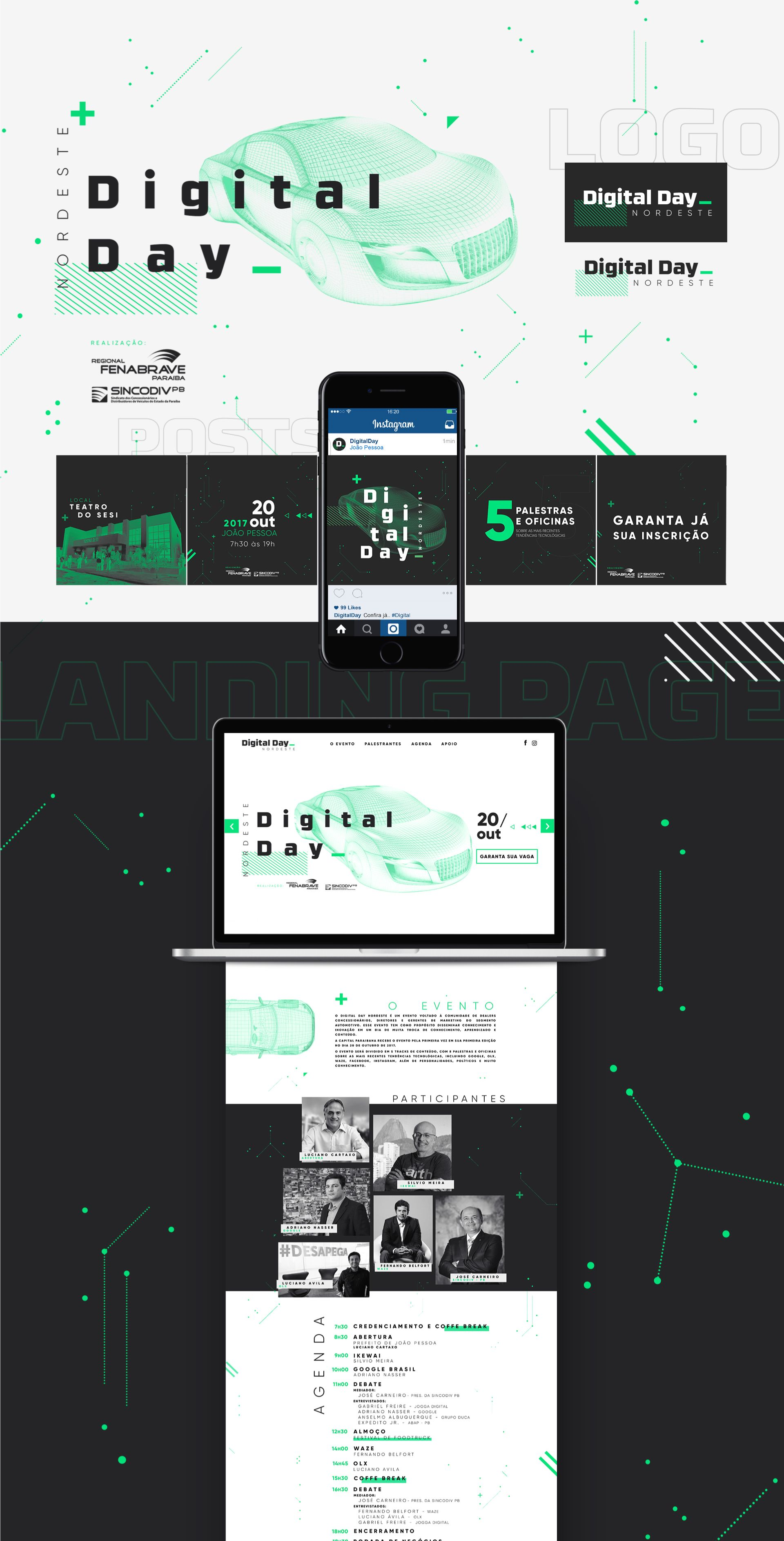 Digital Day - Identidade Visual on Behance | site | Web