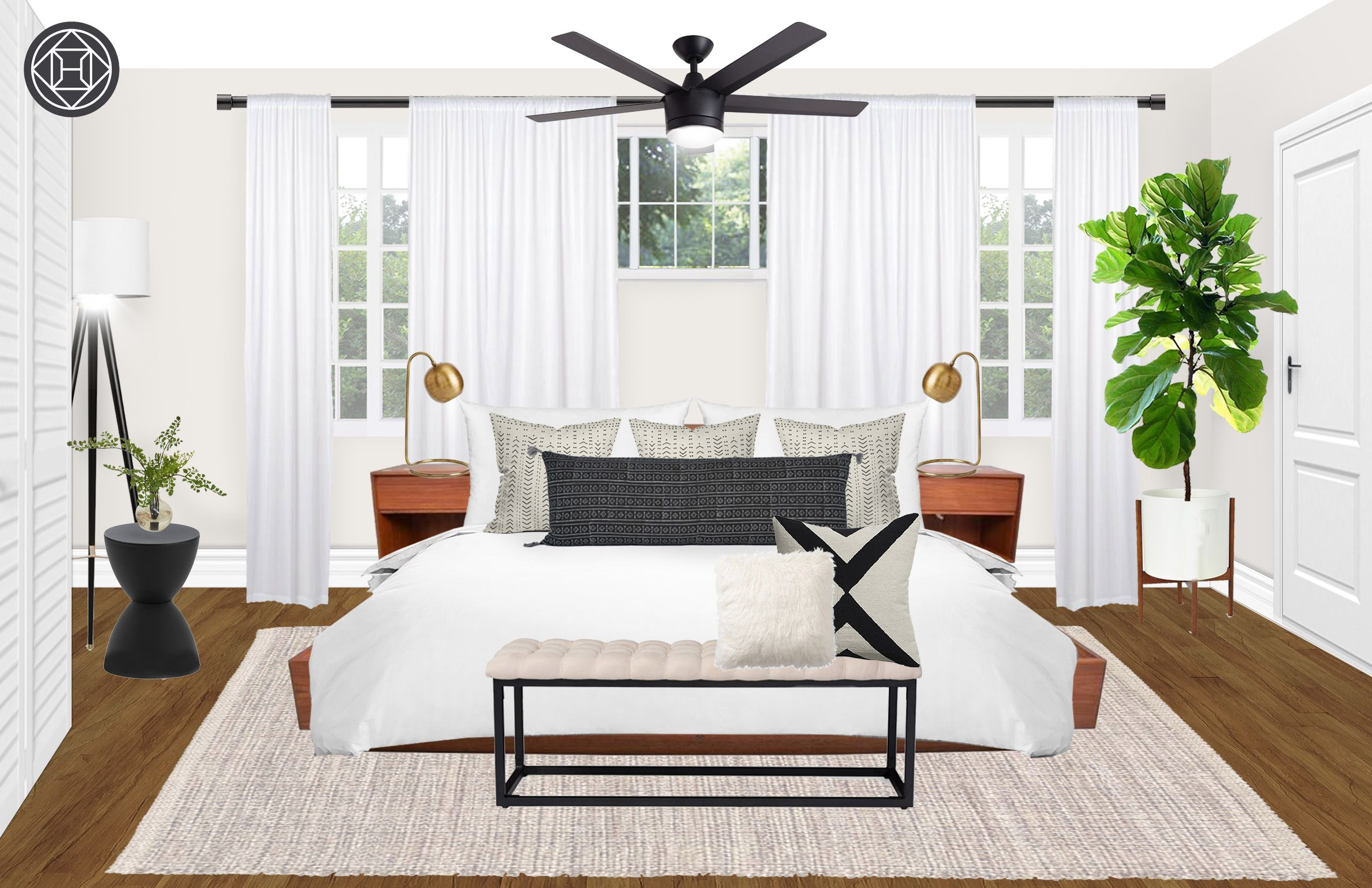 Best Modern Eclectic Midcentury Modern Bedroom Design By 400 x 300