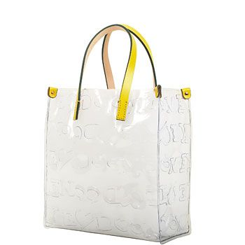 Crystal Doodle Lunch Bag By Dooney Bourke Made Of Clear Flexible Acrylic Also Available With White Or Black Handles 30