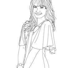 Demi Lovato Smiling Coloring Page Coloring Page Famous People Coloring Pages Demi Lovato Coloring Pages Demi Lovato Color Coloring Pages