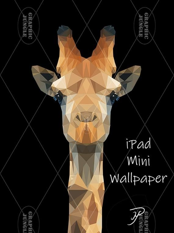 Giraffe by Mike Payne  iPad Mini Wallpaper 1536 x 2048 pixels | Etsy