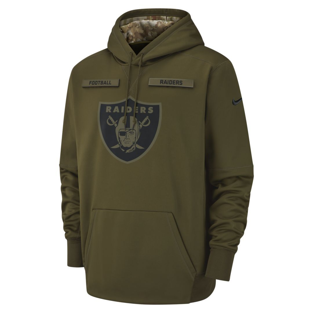 buy online 4289c e5bd5 Therma Salute to Service (NFL Raiders) Men's Hoodie ...