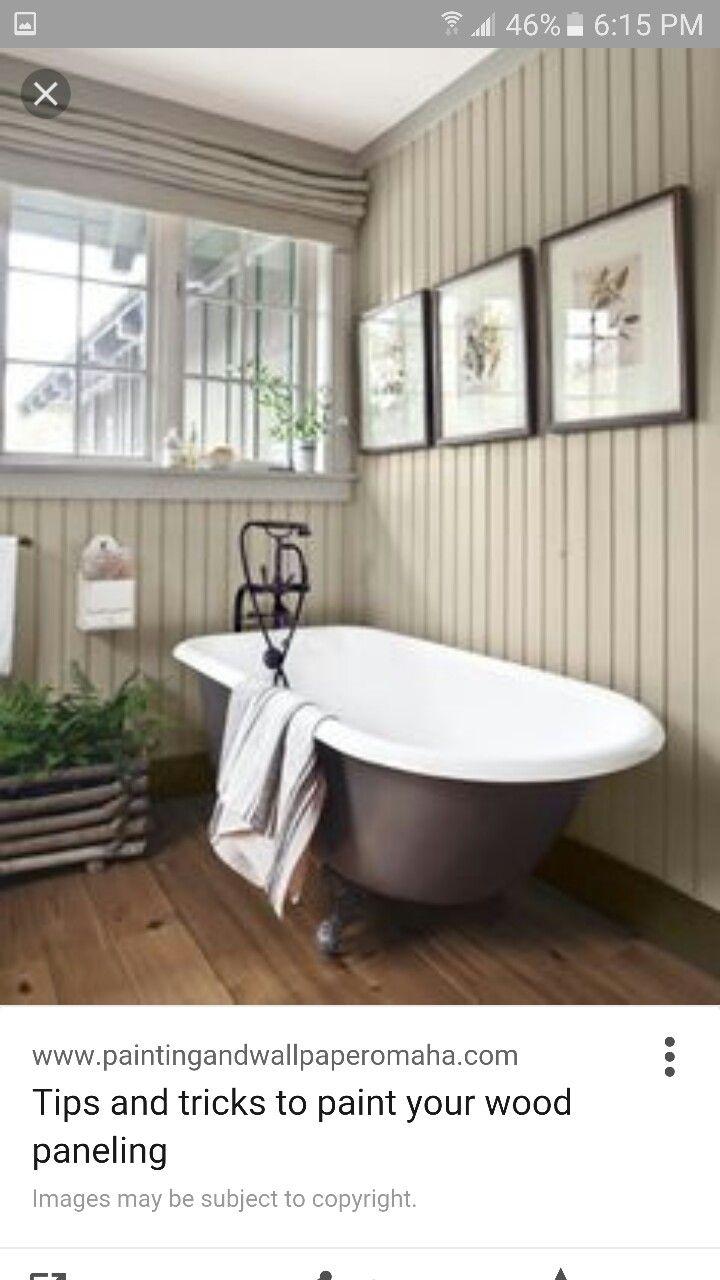 Wood paneling color | New House Ideas | Pinterest | Wood paneling ...