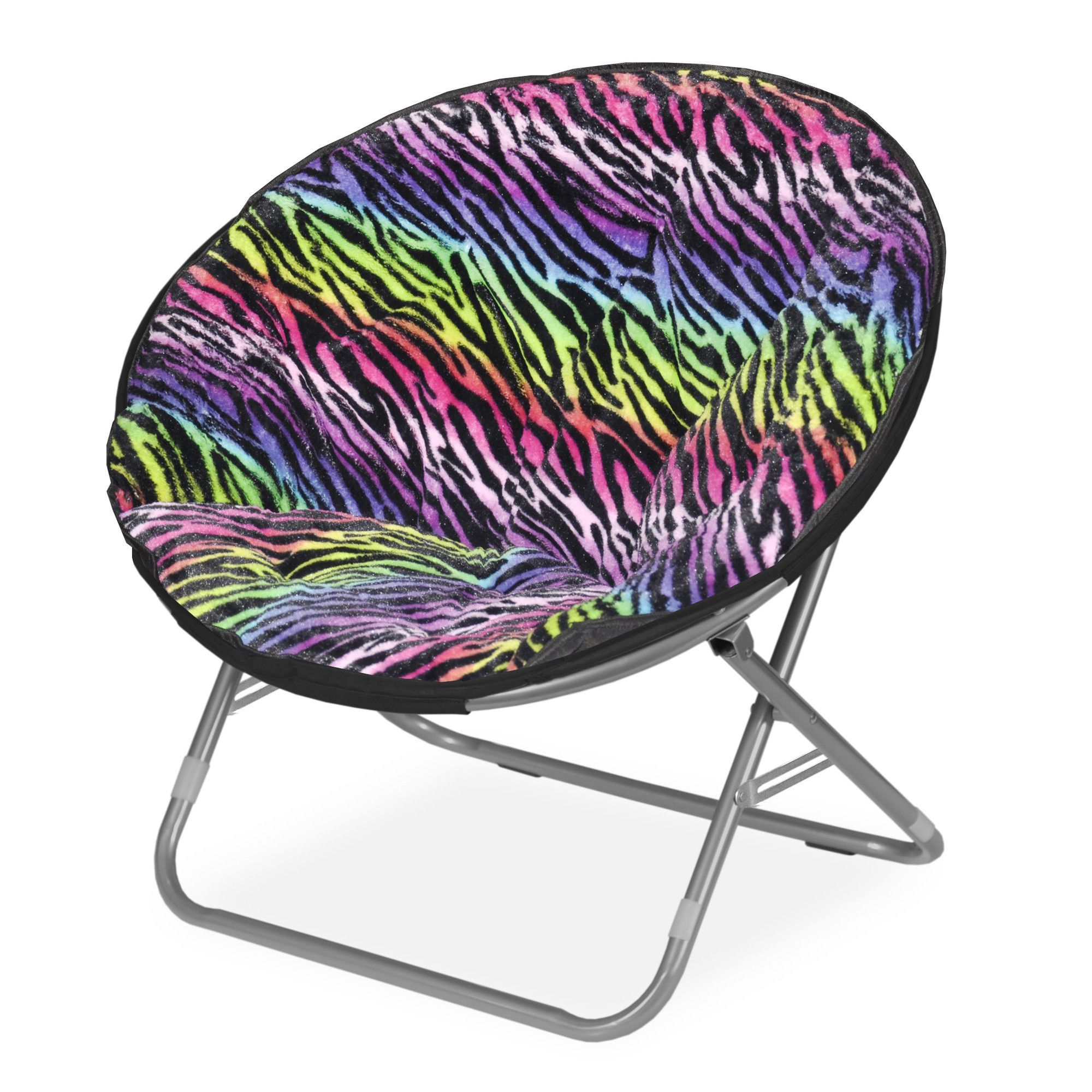 Rock Your Room Rainbow Zebra Saucer Papasan Chair