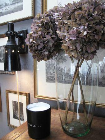 faire s cher les fleurs d 39 hortensias et en faire un bouquet happiness petits bonheurs. Black Bedroom Furniture Sets. Home Design Ideas