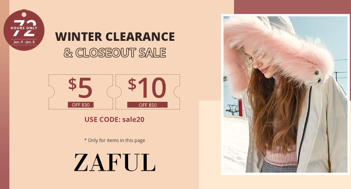 Zaful Winter Clearance & CloseOut Sale Get 5 Off 30