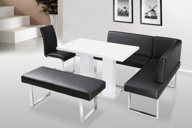 Superbe Corner Dining Table Chairs: Liberty High Gloss Dining Table Corner Bench  Standard Bench P