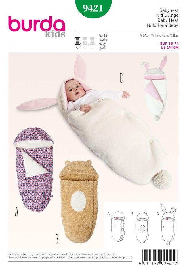 Burda - 9421 | BABE | Pinterest | Baby, Sewing y Baby nest