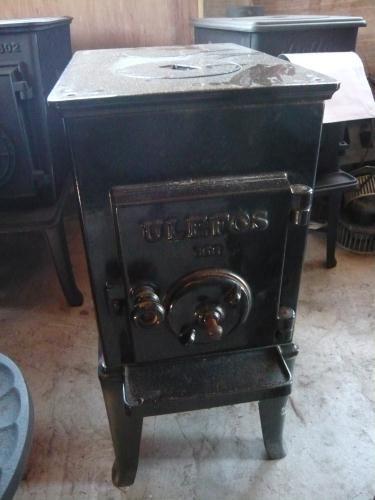 Ulefos 868 Freestanding Black Enamel Box Stove Cast Iron