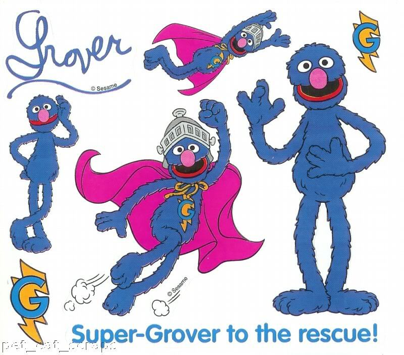 Quotes On The Muppets As Adult Oriented Characters: Colorbok Stickers Sesame Street Super Grover Flying