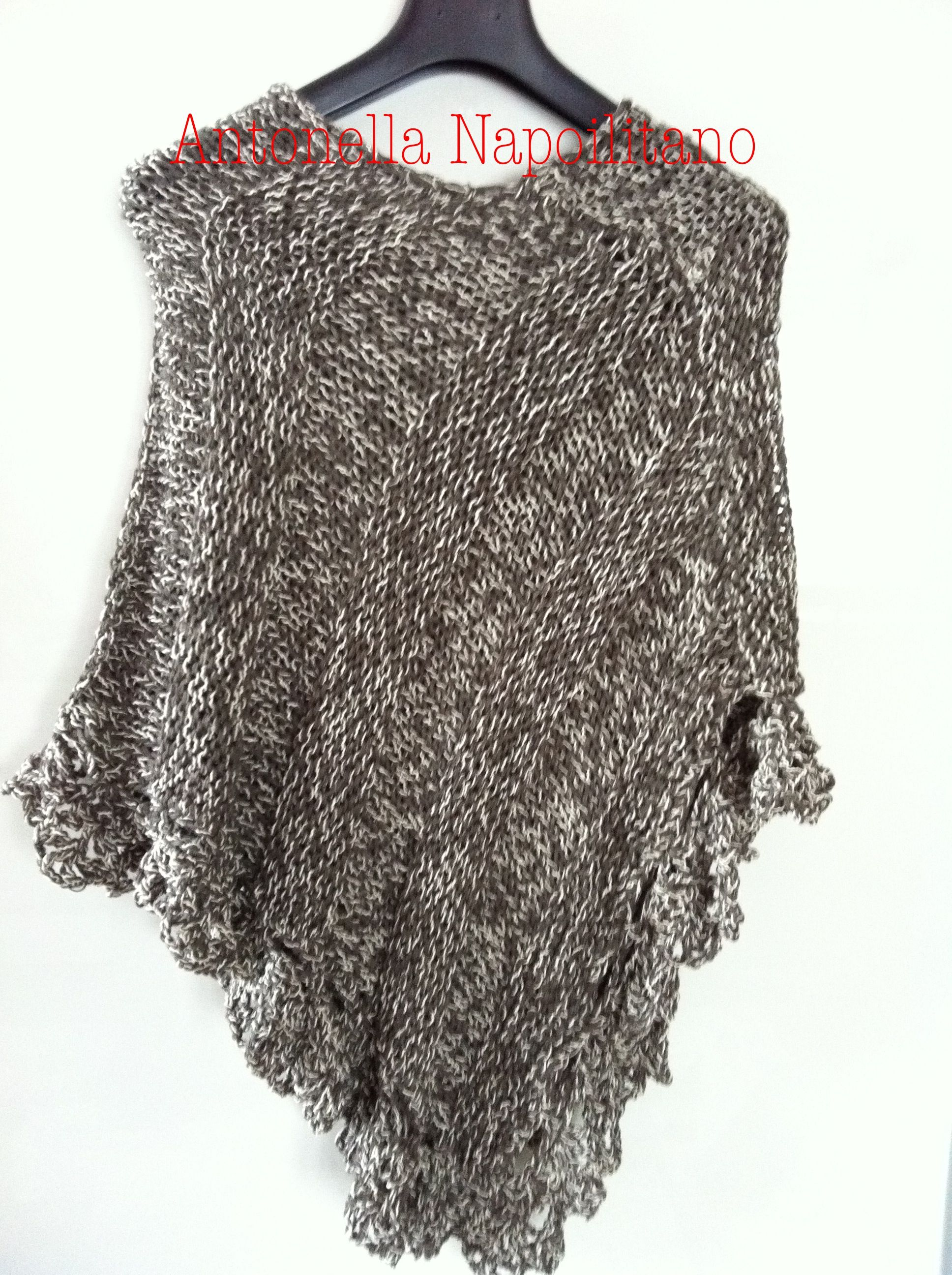 poncho estivo crochet