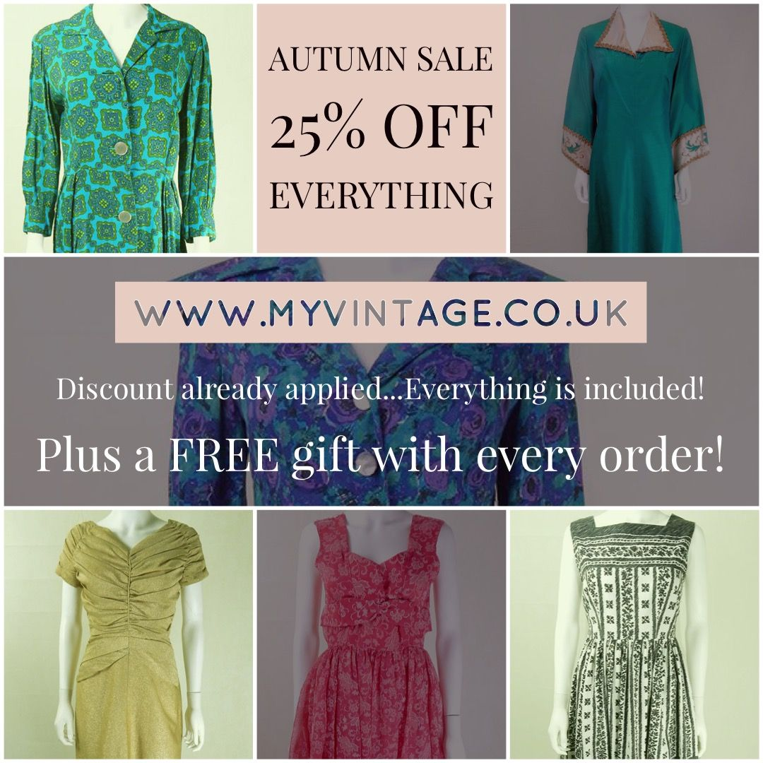 Autumn Sale At My Vintage 25 Off Everything Discount Already Applied And Everything On The Si Vintage Clothes Shop Vintage Knitwear Vintage Style Shoes