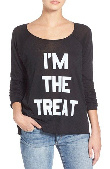 Wildfox 'Real Treat' Raglan Tee available at #Nordstrom