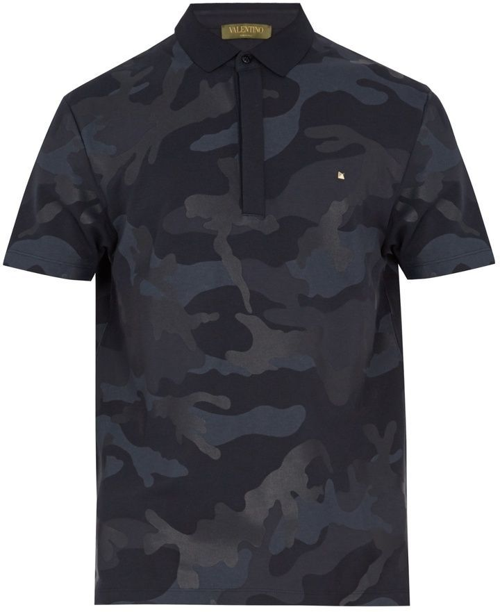 312d2043 Valentino Camouflage-print cotton polo shirt | Summertime gear ...