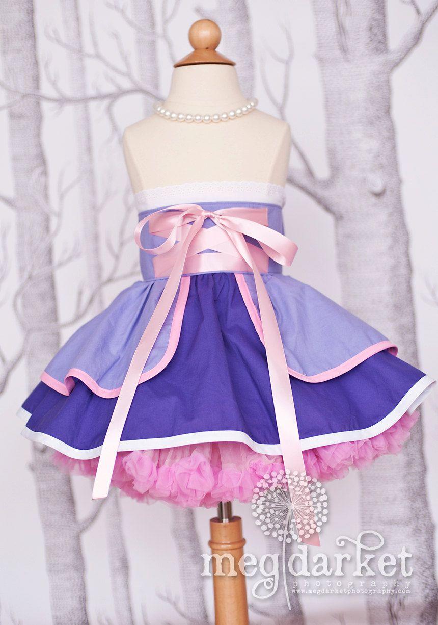 Rapunzel inspired Dress Up Costume Apron...Half Apron style...Made ...