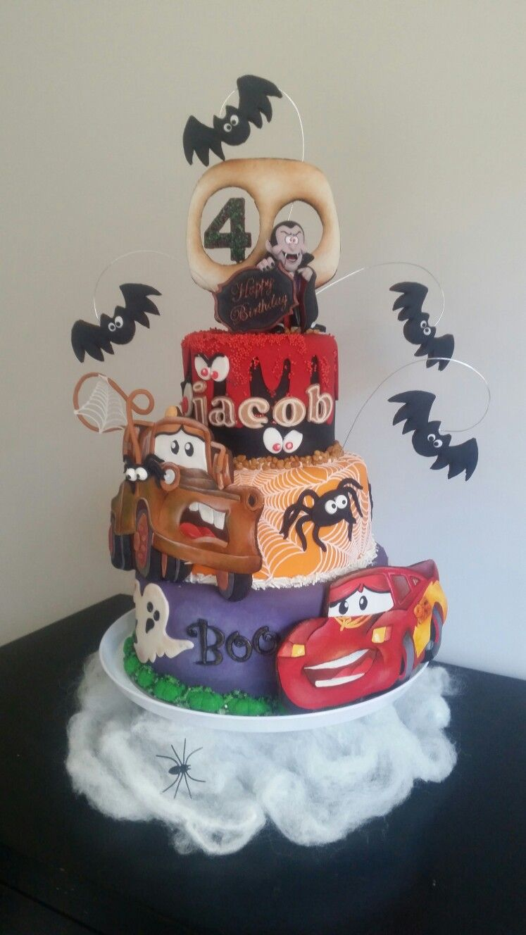 My creation for my grandsons th birthdayhe wanted a spooky cake