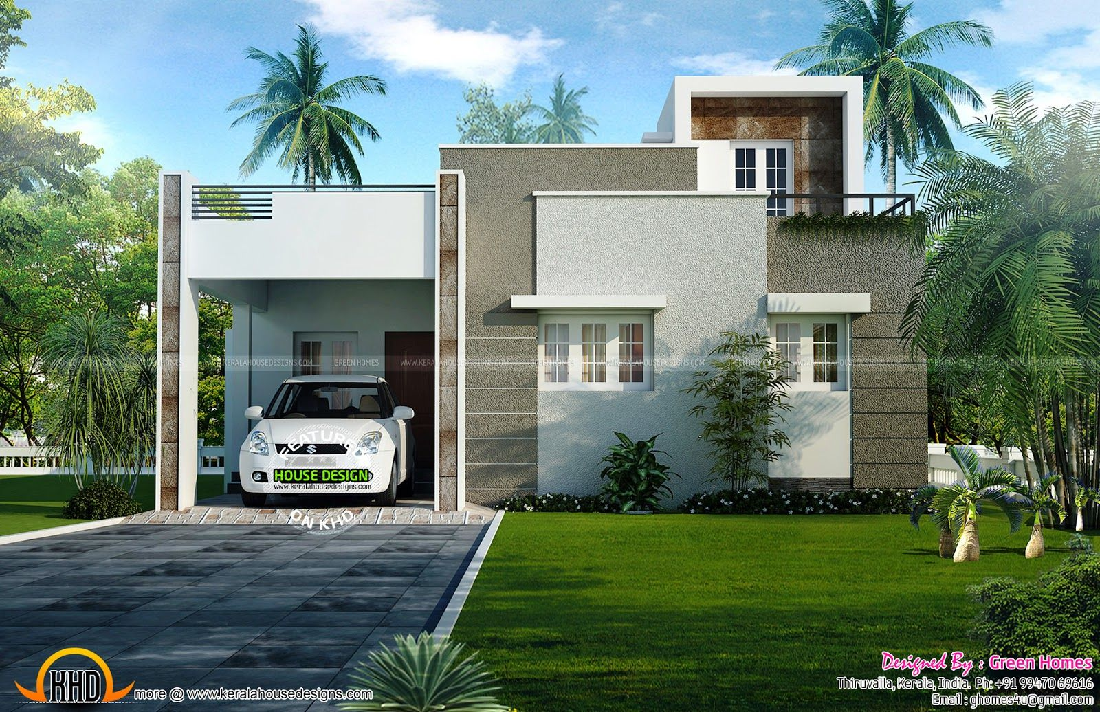 1200 Sq Ft House Plan Kerala House Design House Sketch Plan Modern House Plans